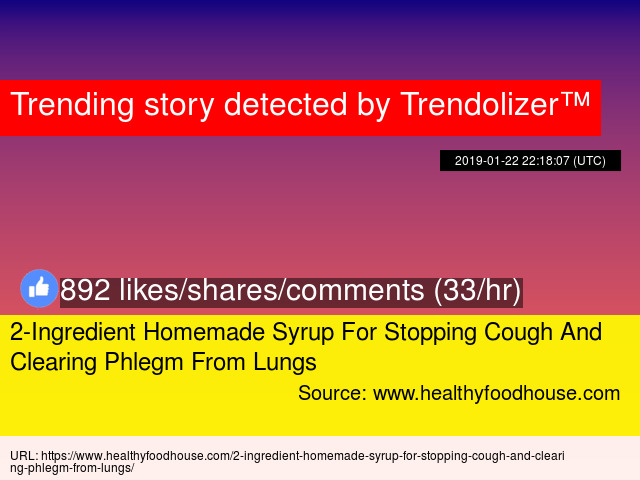 2-Ingredient Homemade Syrup For Stopping Cough And Clearing