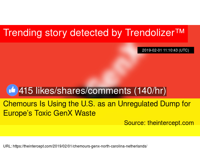 Chemours Is Using the U S  as an Unregulated Dump for