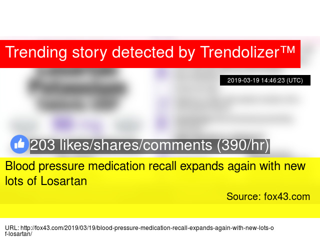Blood pressure medication recall expands again with new lots