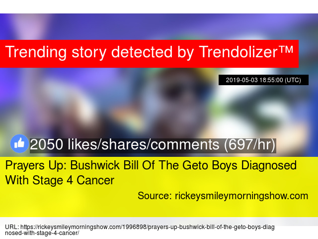 Prayers Up: Bushwick Bill Of The Geto Boys Diagnosed With