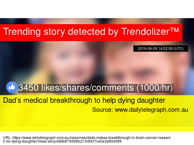 Dad's medical breakthrough to help dying daughter