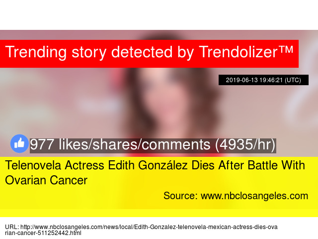 Telenovela Actress Edith González Dies After Battle With Ovarian Cancer