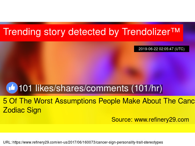 5 Of The Worst Assumptions People Make About The Cancer