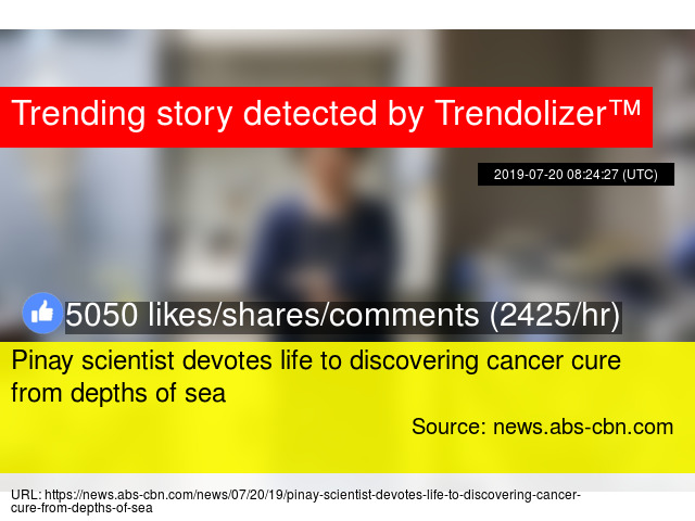 Pinay scientist devotes life to discovering cancer cure from depths