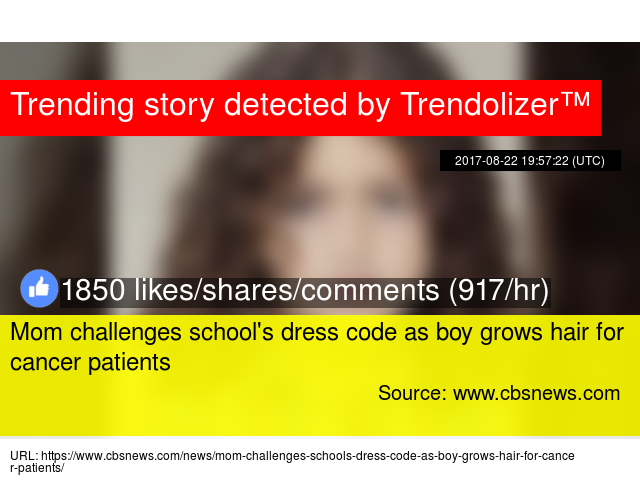 Mom challenges school's dress code as boy grows hair for