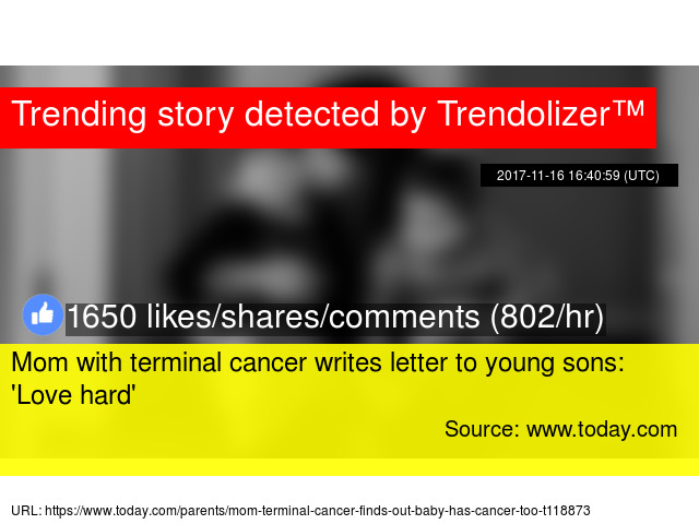 Mom with terminal cancer writes letter to young sons x27love mom with terminal cancer writes letter to young sons x27love hardx27 expocarfo Gallery