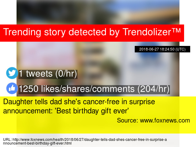 Daughter Tells Dad Shes Cancer Free In Surprise Announcement Best Birthday Gift Ever